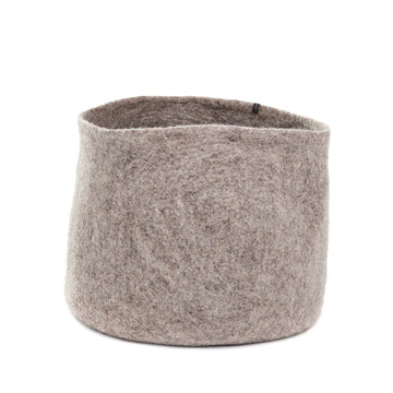 Plain Calabash Basket XL - Light stone