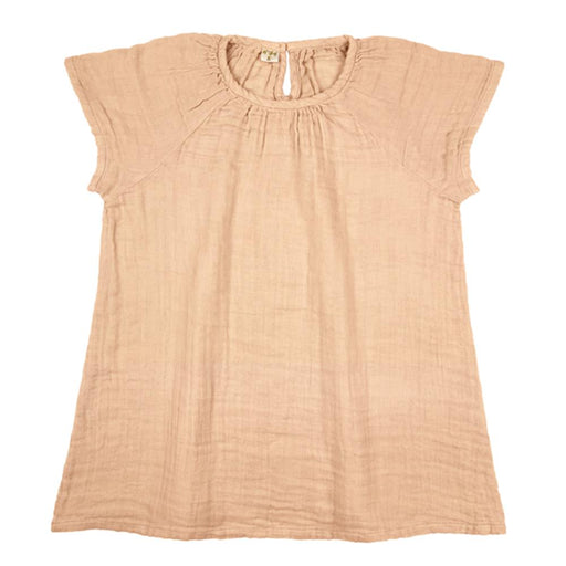 Poeme Lifestyle sells beautiful handcrafted organic cotton clara dress for babies and children by Numero 74 online in Australia. Available in many earthy colors.