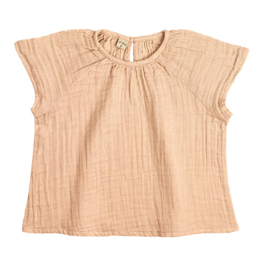 Poeme Lifestyle sells beautiful handcrafted organic cotton clara top for babies and kids by Numero 74 online in Australia. Available in many earthy colors.
