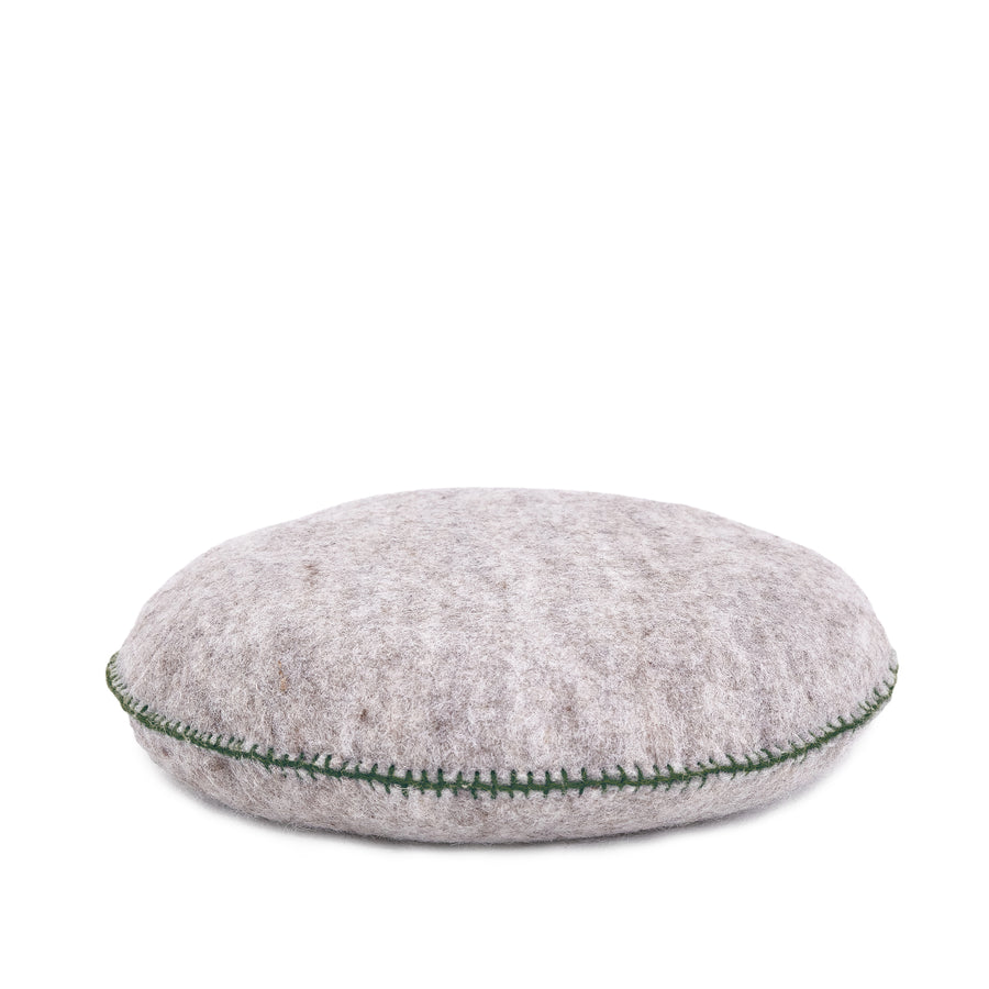 Felt Smartie Cushion - Light Stone