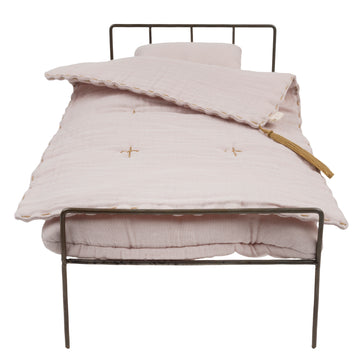 Poeme Lifestyle sells doll metal bed set by Numero 74  online in Australia. For children to play dolls with accessories. Available in many different earthy colors.