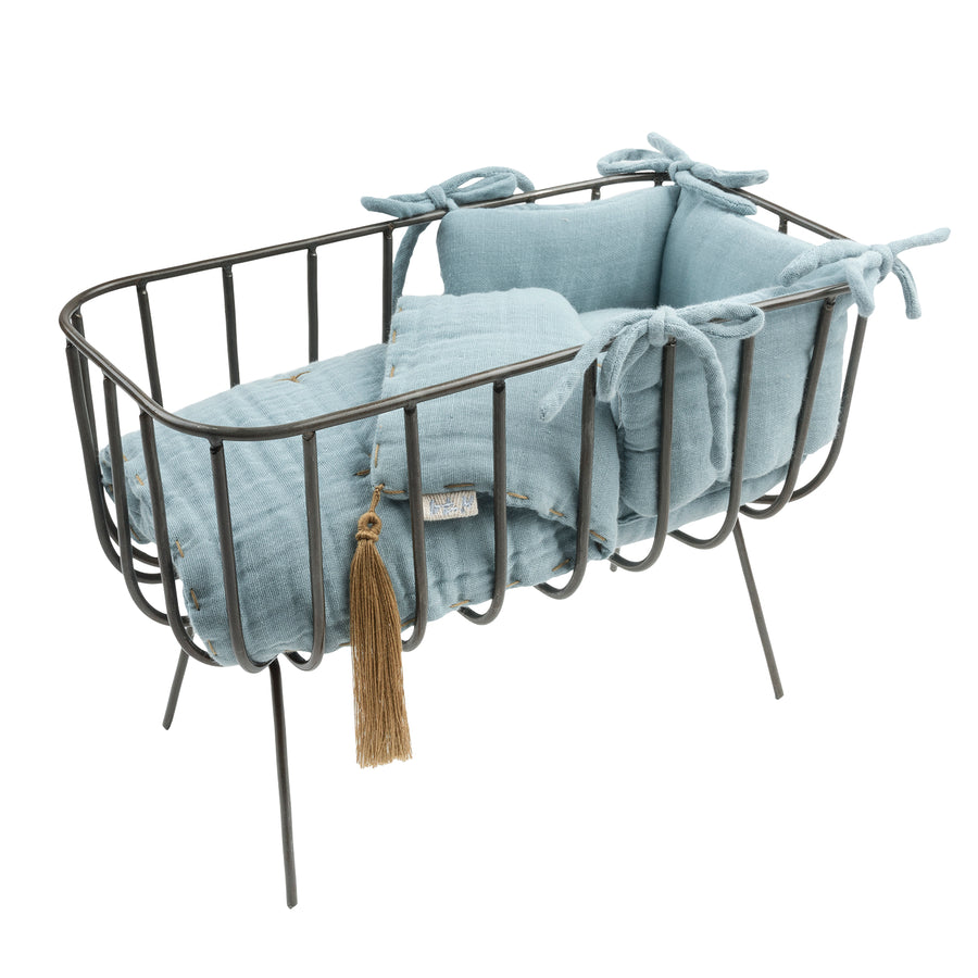 Poeme Lifestyle sells doll metal crib set by Numero 74  online in Australia. For children to play dolls with accessories. Available in many different earthy colors.