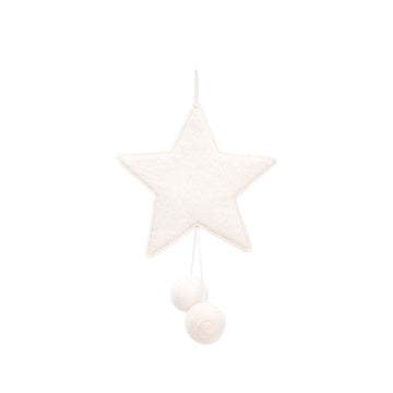 Star with Pompon - Natural
