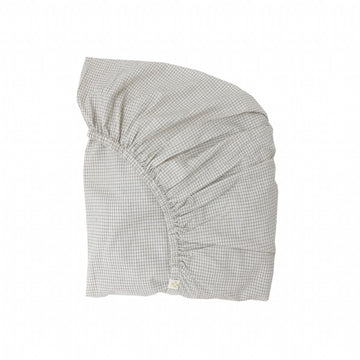 Single Fitted Sheet - Double Check Grey
