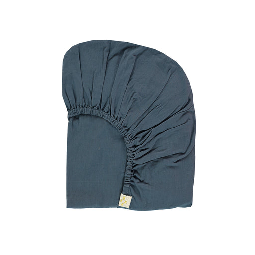 Single Fitted Sheet, Midnight Blue | Camomile London - Poeme Lifestyle