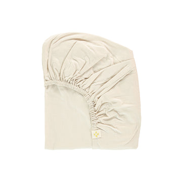 King Single Fitted Sheet in Stone | Camomile London - Poeme Lifestyle