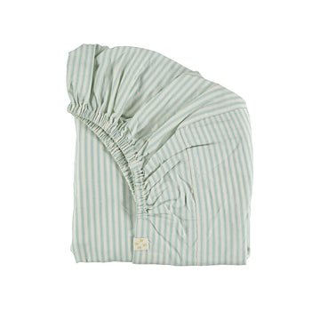 Single Fitted Sheet, Marine Stripe | Camomile London - Poeme Lifestyle