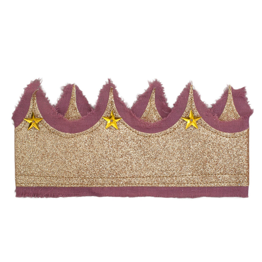 Glitter crown - Gold + Dusty Lilac