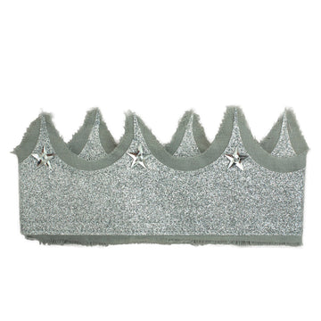 Glitter Silver Crown - grey