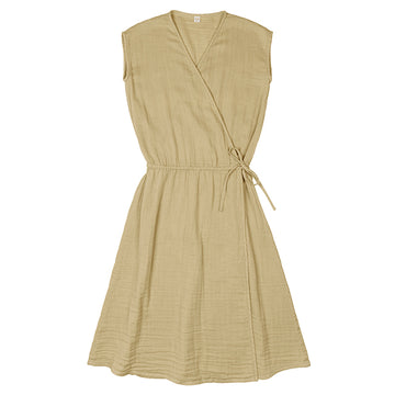 Poeme Lifestyle sells organic cotton mid-length dress for women by Numero 74  online in Australia. Available in many different earthy colors.