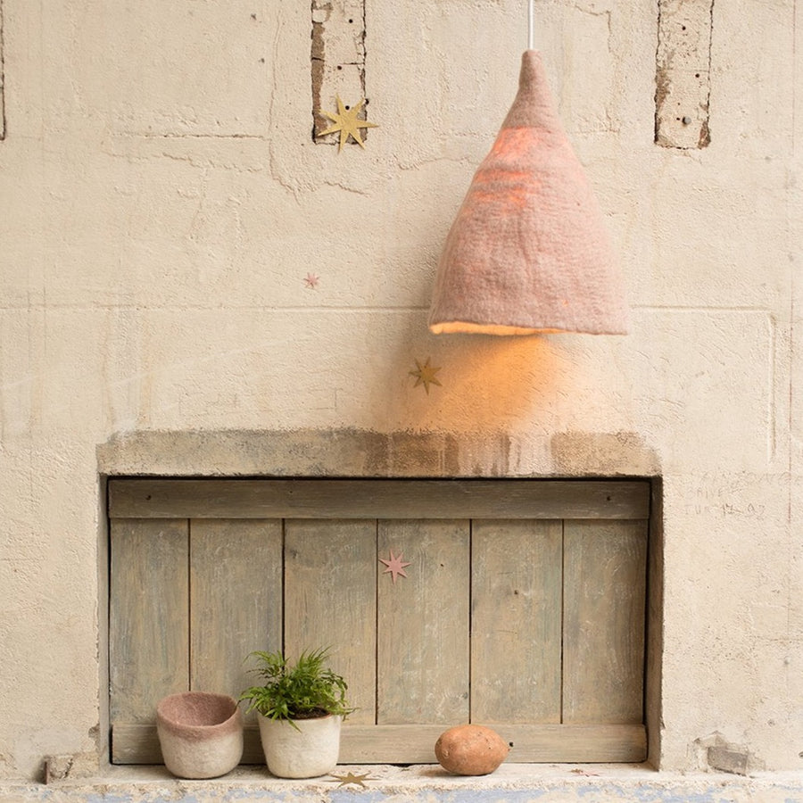 Poeme lifestyle sells earthy felt lampshade by Muskhane online in Australia.