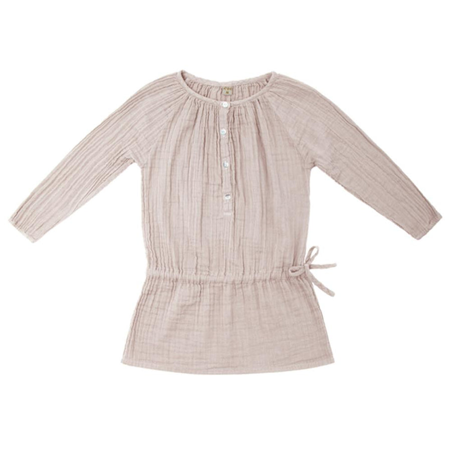 Poeme Lifestyle sells 100% organic cotton Naia dress for kids by Numero 74 online in Australia as a timeless clothing. Available in a range of earthy colors.