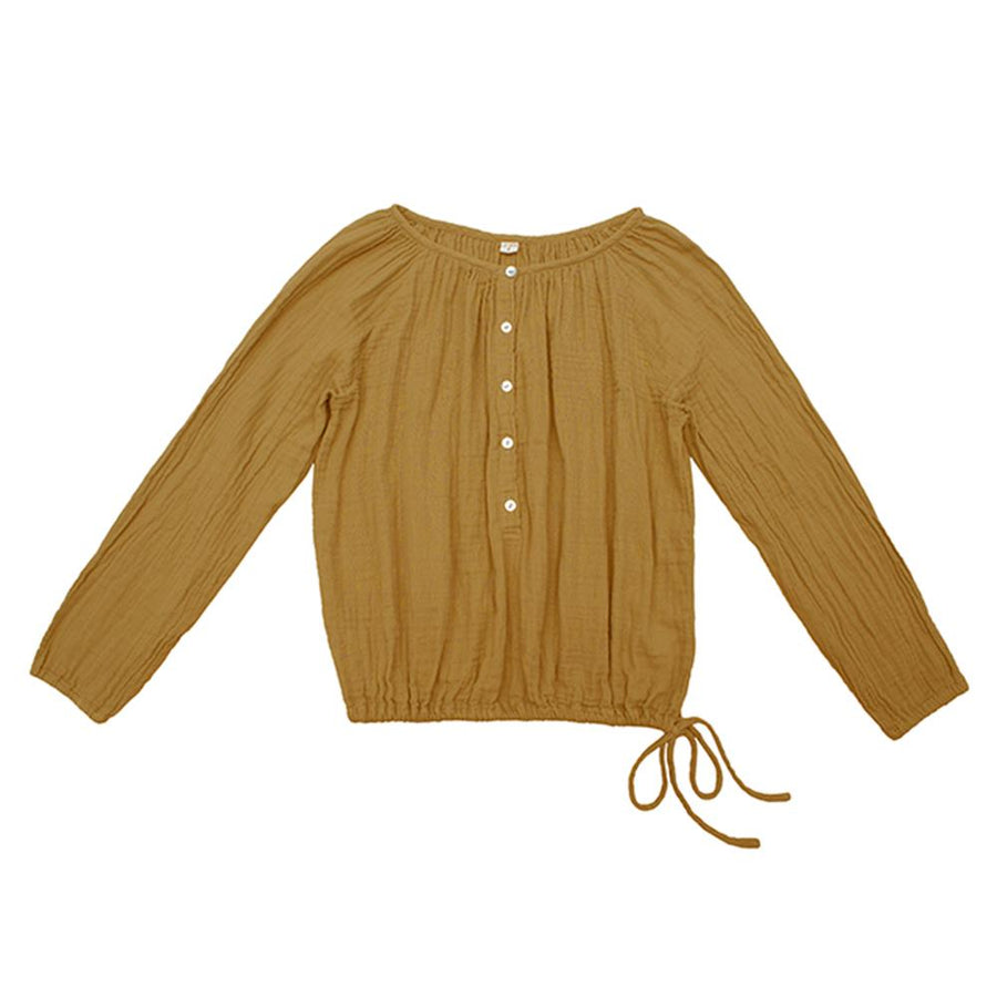 Poeme Lifestyle sells 100% organic cotton Naia shirt for mums by Numero 74 online in Australia as a timeless clothing. Available in a range of earthy colors.