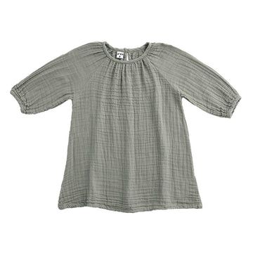 Poeme Lifestyle sells 100% organic cotton Nina dress for babies and kids by Numero 74 online in Australia as a timeless clothing. Available in a range of earthy colors.