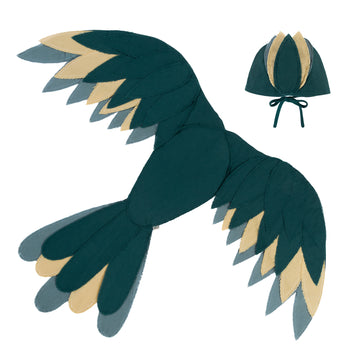 Phoenix Bird Wings - Teal Blue