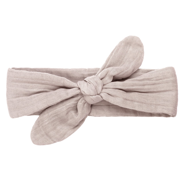 Romy Bow Headband - Powder
