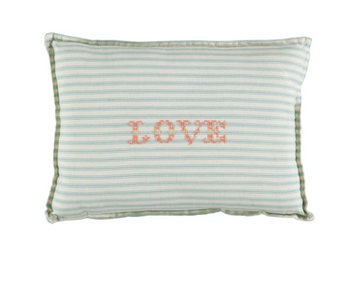 Small Cushion - Ticking Stripe Marine
