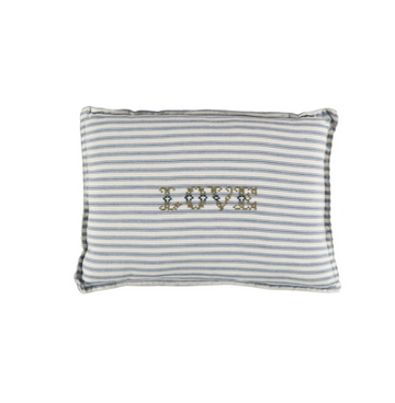 Small Cushion - Ticking Blue