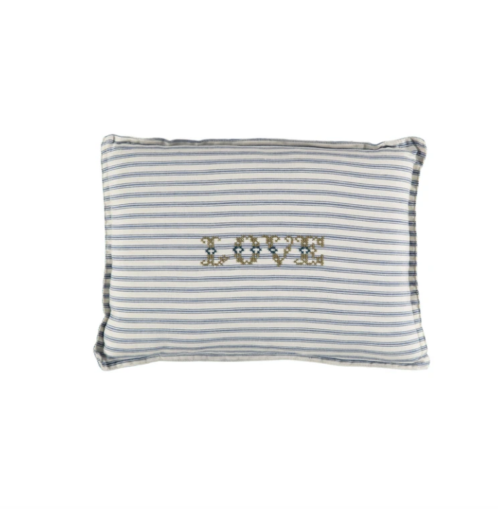 Small Cushion - Ticking Stripe Blue