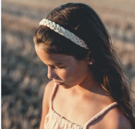 Wendy Braid Headband - Dusty Pink