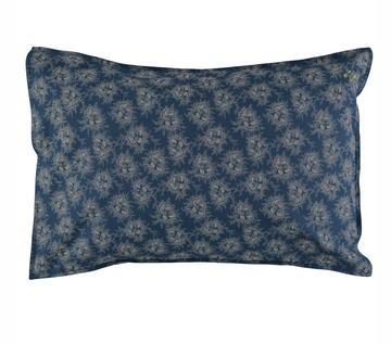 Standard Pillowcase - Spot Floral Indigo Blue
