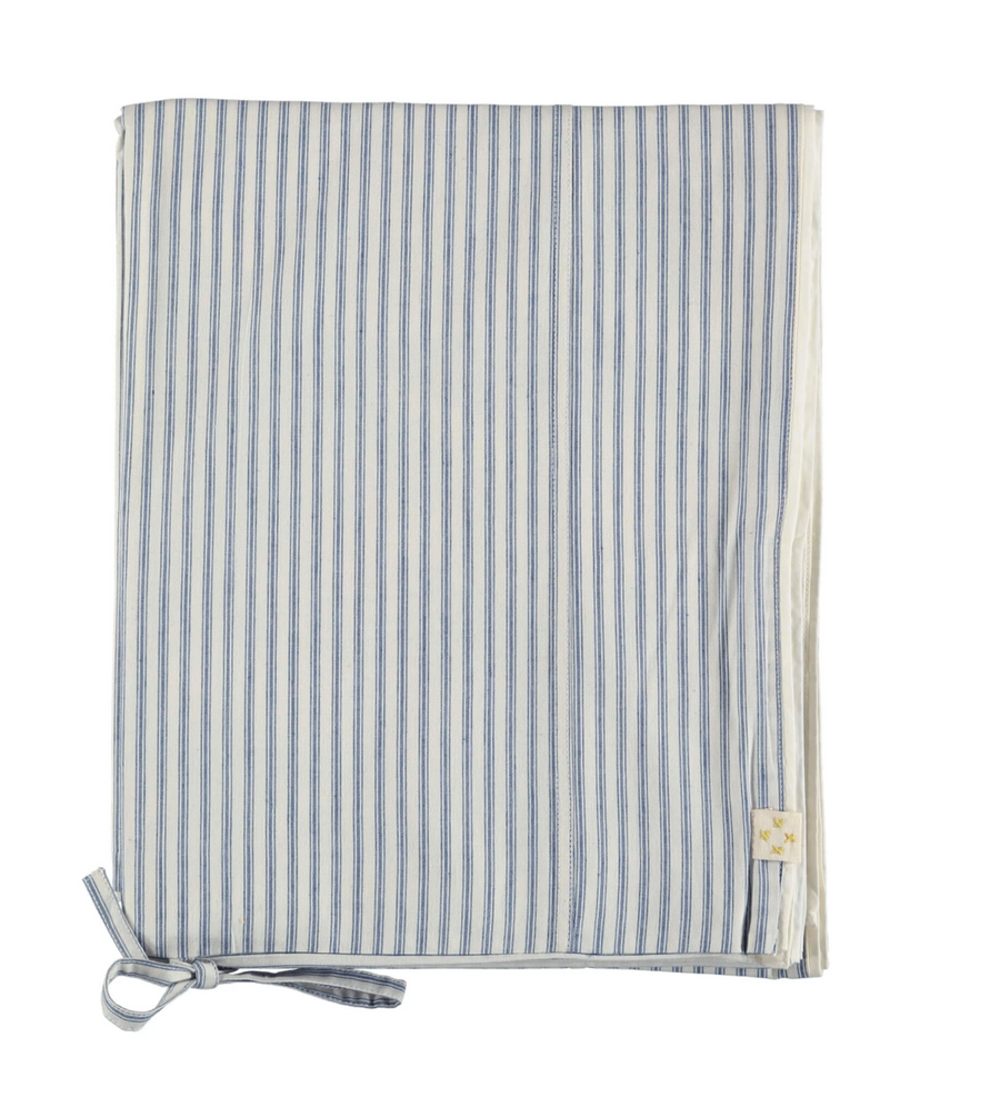 Double quilt Cover - Ticking Stripe Blue
