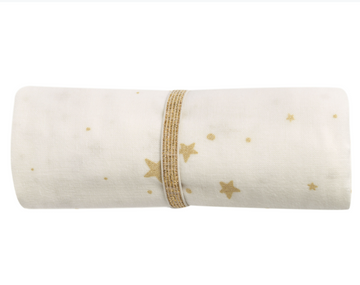 SWADDLE Large - White with Gold STars