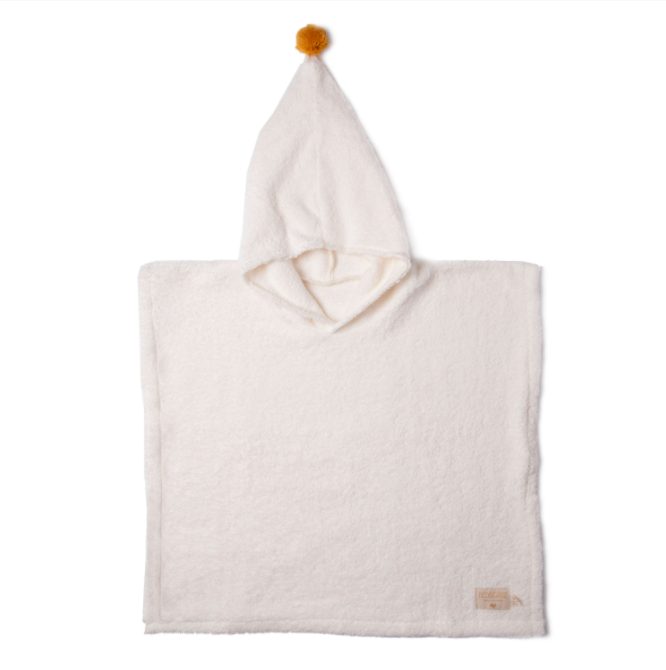 PONCHO TOWEL KID - NATURAL