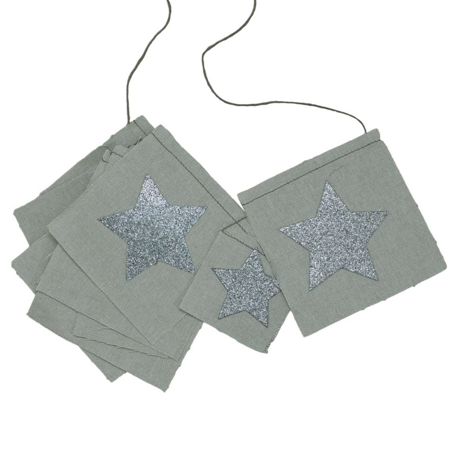 fancy Garland- Grey Glitter Silver