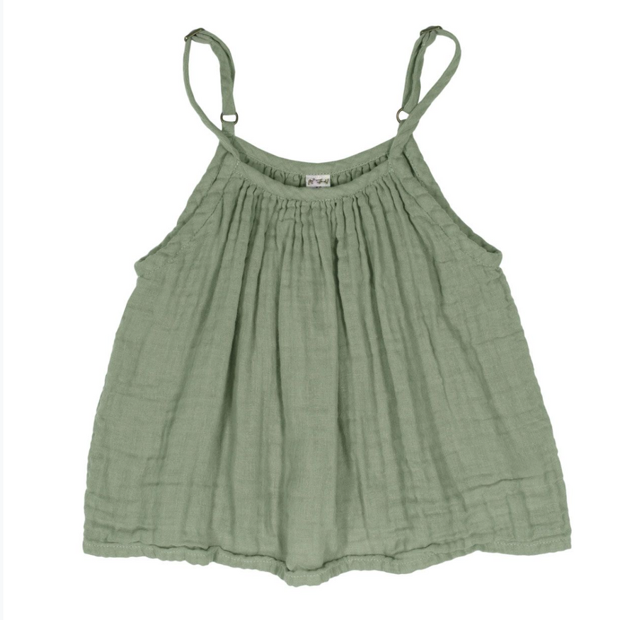 New Numero74 colour Mia top Kid in Sage Green