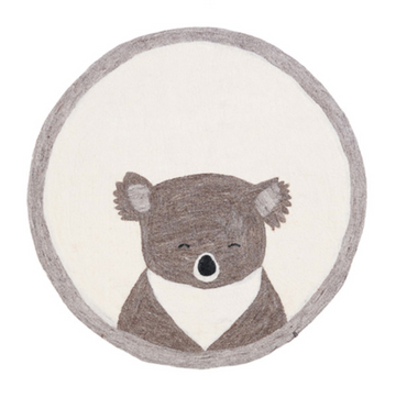 Koala Felt Pasu Rug - Natural with Grey border