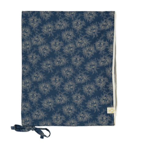 Single Quilt Cover, Floral Indigo | Camomile London - Poeme Lifestyle