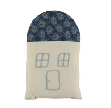 Midi House Cushion - Spot Floral Indigo