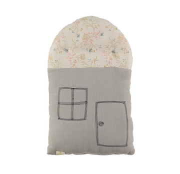 Small House Cushion - Minako Golden / Soft Grey