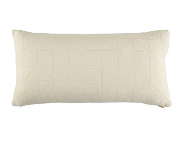 Long Diamond Cushion Cover - Natural