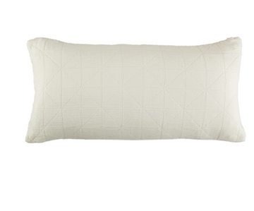 Long Diamond Cushion Cover - White