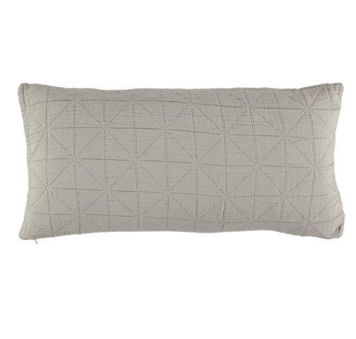 Long Diamond Cushion Cover - Light Grey