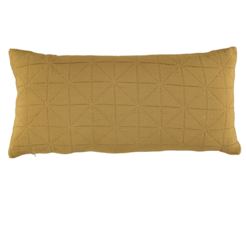 Long Diamond Cushion Cover - Gold
