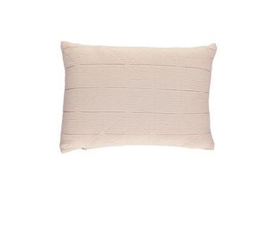 Camomile London Small Diamond Cushion Cover - Powder Pink