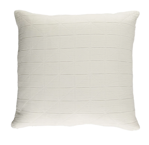 Camomile London Square Diamond Cushion Cover - White