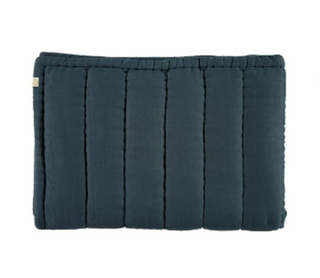 Camomile London Single Hand Quilted Blanket - Midnight