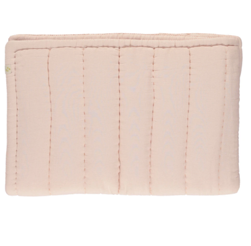 Cot Hand Quilted Blanket - Powder Pink