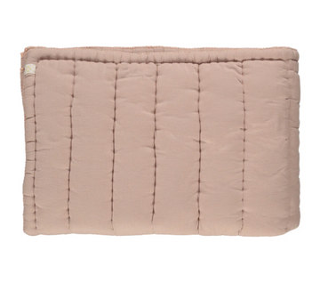 Camomile London Single Hand Quilted Blanket - Dusty Pink