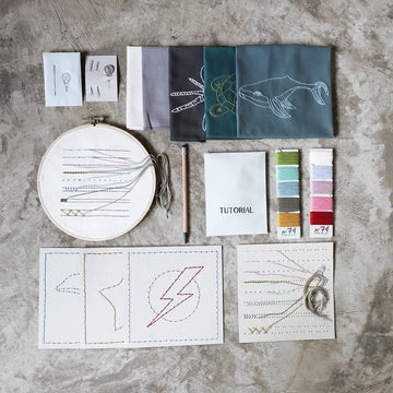 Poeme lifestyle sells earthy organic creative embroidery kits by Numero 74 online in Australia.