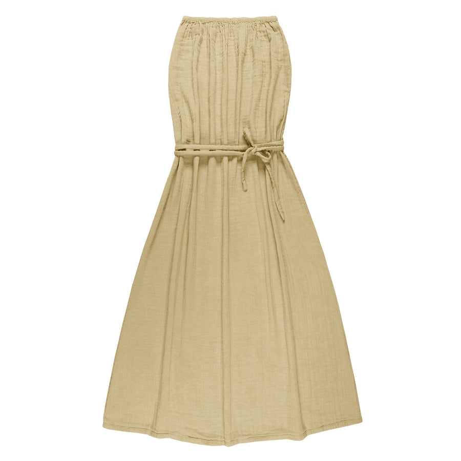 Numero 74 Sienna Long Women Dress - Mellow Yellow