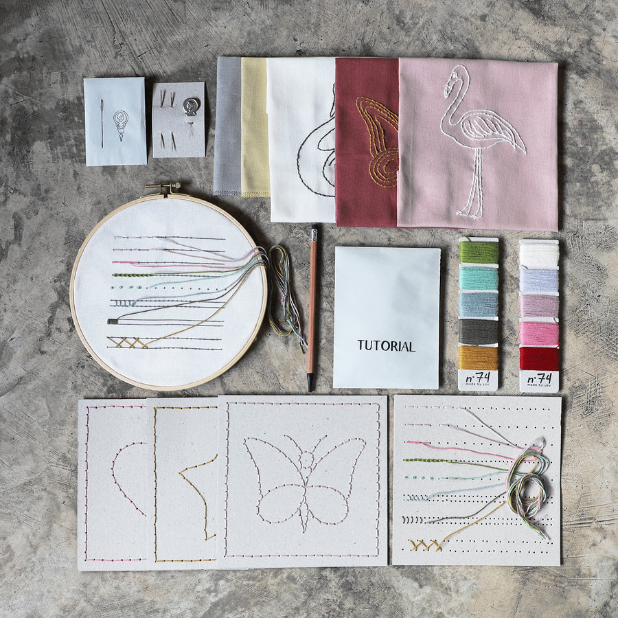 Poeme lifestyle sells creative embroidery kits by Numero 74 online in Australia.