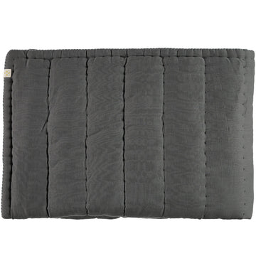 Camomile London Single Hand Quilted Blanket - Slate