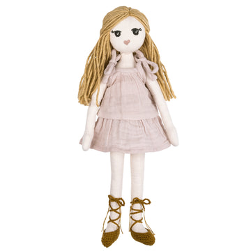 Poeme Lifestyle sells organic cotton Stella girl doll for kids to play dolls  by Numero 74 online. Available in many earthy colors.