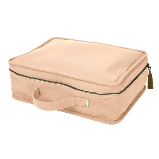 Poeme Lifestyle sells organic cotton handcrafted suitcase by Numero 74 online. Available in many earthy colors.