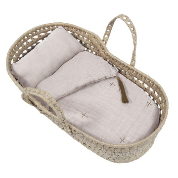Poeme Lifestyle sells doll baby essential moses basket set by Numero 74  online in Australia. For children to play dolls with accessories. Available in many different earthy colors.